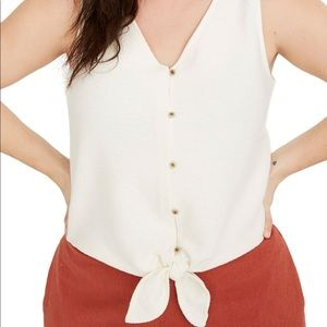 Texture & Thread Madewell Button Tie Front Tank